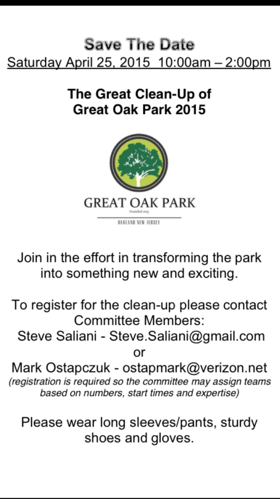 Cleanup 2015 Great Oak Park